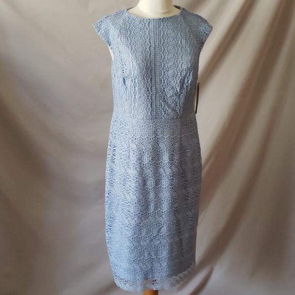 Tahari Dresses & Skirts - Blue lace dress